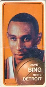 Dave Bing 1970-71 Topps card #125
