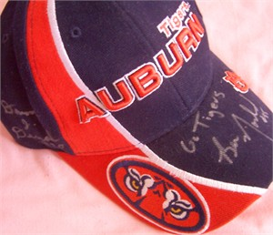 Damon Duval & Ben Nowland autographed Auburn Tigers cap or hat