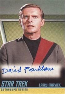 David Frankham Star Trek certified autograph card