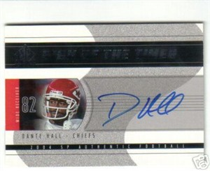 Dante Hall certified autograph Kansas City Chiefs SP Authentic card
