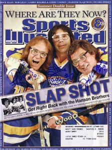 Hanson Brothers (Dave Hanson Steve Carlson Jeff Carlson) autographed Slap Shot 2007 Sports Illustrated