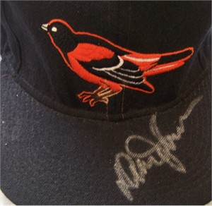 Davey Johnson autographed Baltimore Orioles game model cap