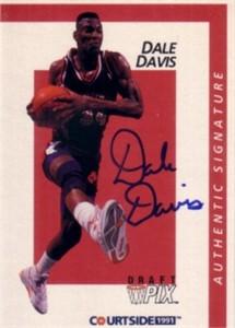 Dale Davis Clemson Tigers certified autograph 1991 Courtside card