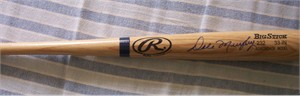 Dale Murphy autographed Rawlings Big Stick bat