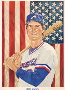 Dale Murphy 1985 Perez Steele 5x7 Atlanta Braves artwork card #586/5000