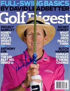David Leadbetter autographed Golf Digest magazine cover