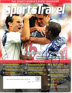 DaMarcus Beasley autographed U.S. Soccer 2005 SportsTravel magazine cover
