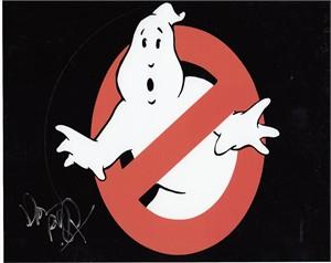 Dan Aykroyd autographed Ghostbusters logo 8x10 photo