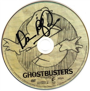 Dan Aykroyd autographed Ghostbusters movie DVD