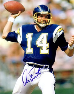 Dan Fouts autographed San Diego Chargers 8x10 photo