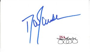 Dan Jansen autographed business card (cut signature) JSA