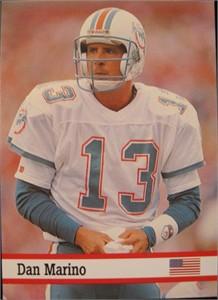 Dan Marino Miami Dolphins 1993 Fax-Pax card