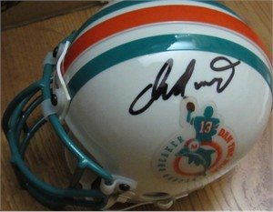 Dan Marino autographed Miami Dolphins Dan the Man authentic mini helmet