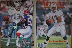 Lot of 2 Dan Marino Miami Dolphins Beckett Football Monthly magazines