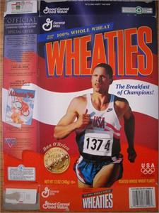 Dan O'Brien 1996 Olympic decathlon commemorative Wheaties box