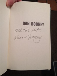 Dan Rooney autographed My 75 Years with the Pittsburgh Steelers and the NFL hardcover book