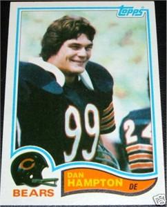 Dan Hampton Chicago Bears 1982 Topps card #297