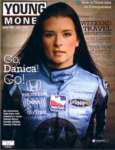 Danica Patrick 2007 Young Money magazine