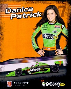 Danica Patrick 2011 Andretti IRL 8x10 photo card