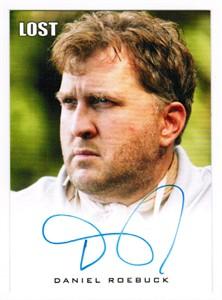 Daniel Roebuck LOST certified autograph card