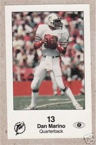 Dan Marino Miami Dolphins 1985 Police card