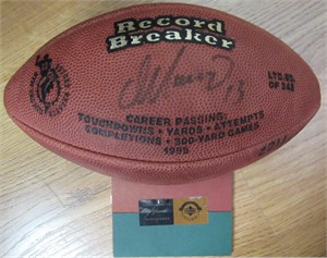 Dan Marino autographed Miami Dolphins Record Breaker UDA mini football #221/343
