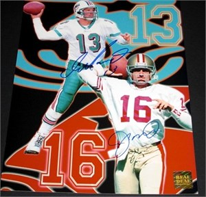 Dan Marino & Joe Montana autographed 8x10 photo