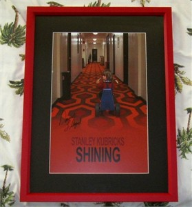 Danny Lloyd autographed The Shining mini movie poster matted & framed
