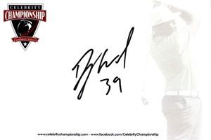 Danny Woodhead autographed 4x6 signature card