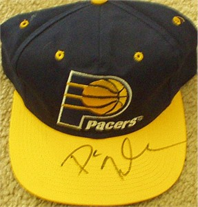 Dan Quayle autographed Indiana Pacers cap or hat
