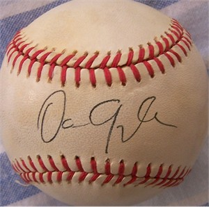 Dan Quayle autographed National League baseball