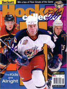 Dany Heatley & Ilya Kovalchuk autographed Atlanta Thrashers 2001 Beckett Hockey magazine