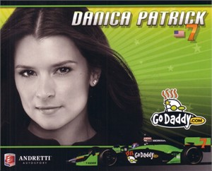 Danica Patrick 2010 Andretti IRL photo card