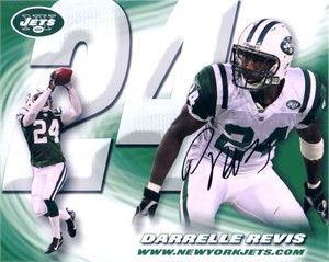 Darrelle Revis autographed New York Jets 8x10 photo