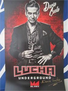 Dario Cueto autographed Lucha Underground 2017 Comic-Con mini 11x17 poster