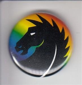 Dark Horse Comics rainbow logo 2014 Comic-Con button or pin