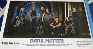 Dark Matter cast autographed 2015 Comic-Con poster Roger Cross Jodelle Ferland Anthony Lemke Melissa O'Neil