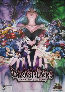 Darkstalkers Resurrection video game CAPCOM promo 14x20 poster MINT