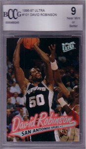 David Robinson 1996-97 Ultra card graded BCCG 9