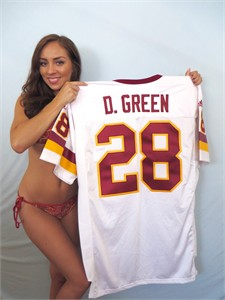 Darrell Green Washington Redskins authentic 2001 Adidas team issued game model jersey
