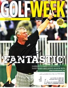 Darren Clarke autographed 2011 British Open Golfweek magazine
