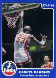 Darryl Dawkins New Jersey Nets 1986 Star Lifebuoy card