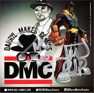 Darryl McDaniels autographed Run DMC 2014 Comic-Con promo decal or sticker
