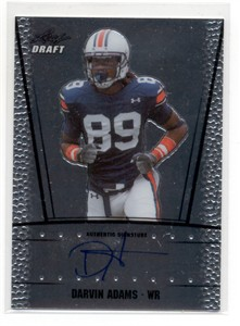 Darvin Adams Auburn Tigers certified autograph 2011 Leaf Draft card