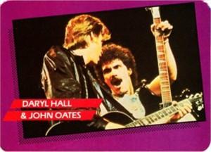 Daryl Hall & John Oates 1985 Rockstar Concert Card