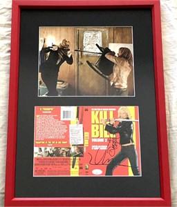 Daryl Hannah & Uma Thurman autographed Kill Bill movie DVD insert