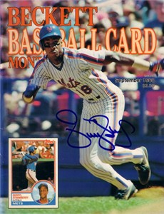 Darryl Strawberry autographed New York Mets Beckett Baseball magazine cover