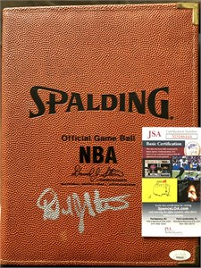 David Stern autographed NBA Spalding Official Game Ball portfolio