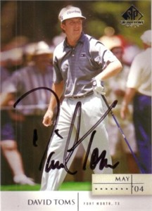 David Toms autographed 2004 SP Signature golf card
