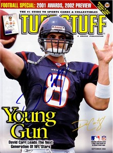 David Carr autographed Houston Texans Tuff Stuff magazine cover